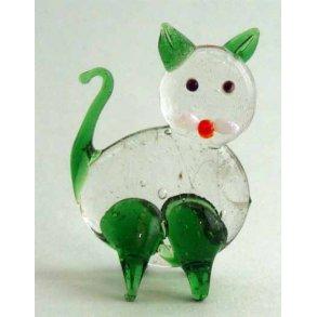 Kattefigurer, glas