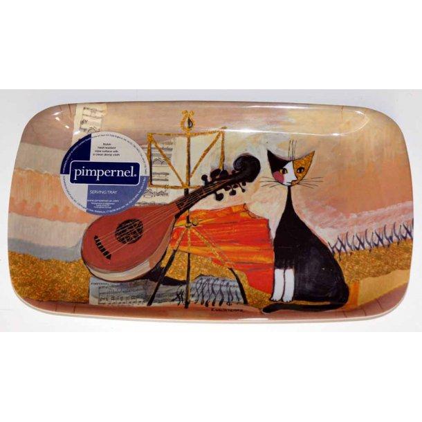 Musical Cat<br>Melaminbakke for &eacute;n