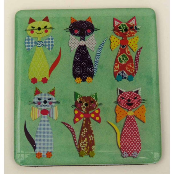 Patchwork Cats magnet