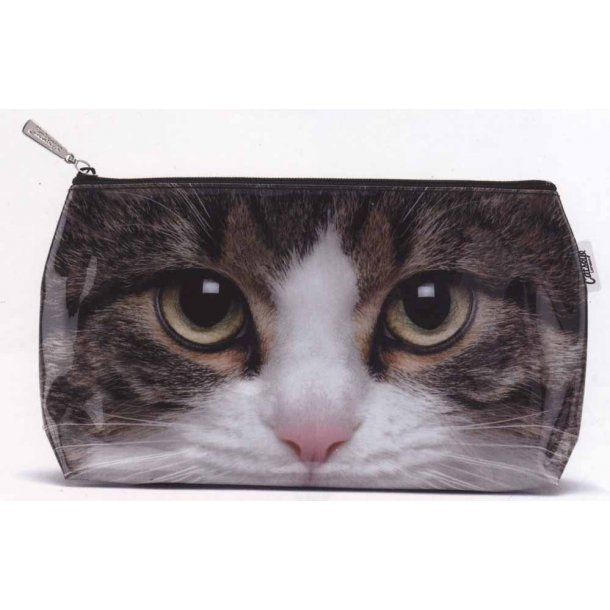 Tabby Cat stor toilettaske