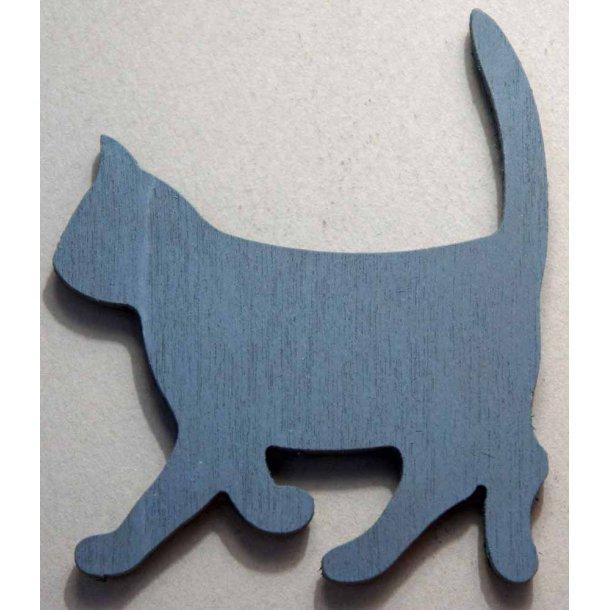 Cat walking<br>Grå magnet