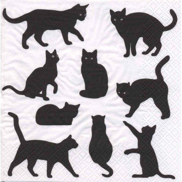 Silhuet-katte<br>Lunchservietter