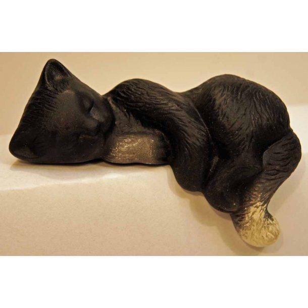 Sovende sort/hvid kat