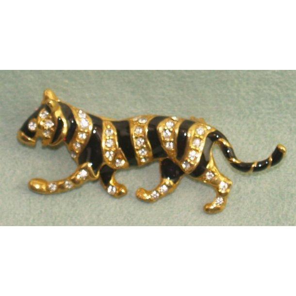 Stribet kat - broche