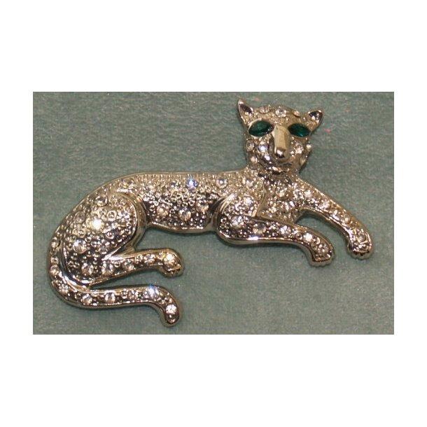 Liggende kat - broche
