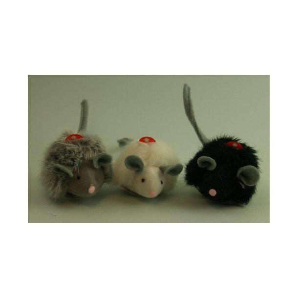 En stor mus med<br>microchip piv-lyde