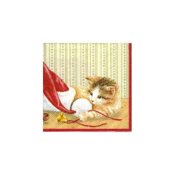 Jule-kaffeserviet<br>Kat og mus og nisse