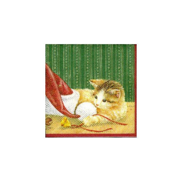 Jule-kaffeserviet<br>Kat og mus og nissehue