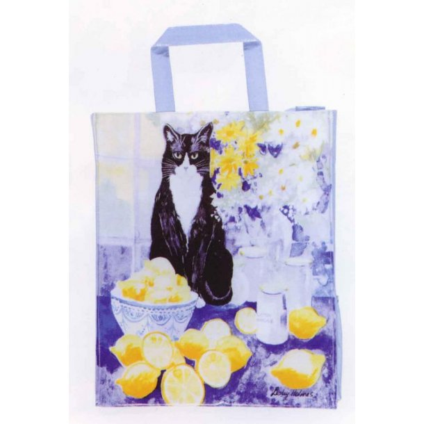 Lemon Cat Shoppingbag<br>Design: Lesley Holmes