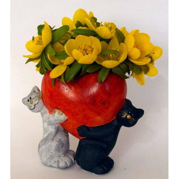 Sød hjertevase<br>til små blomster