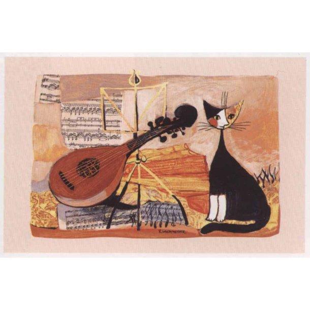 Musical Cat viskestykke.<br>Design: Rosina Wachtme