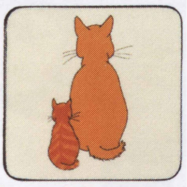 Cats in Waiting<br>Glas/krus-brikker