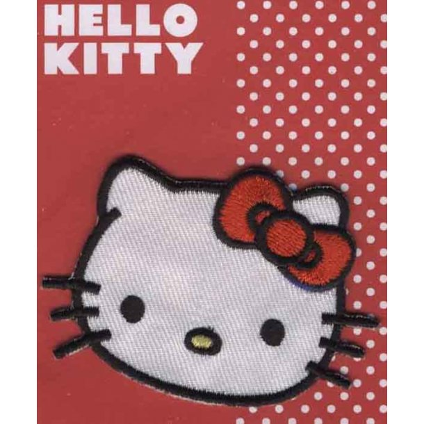 Hello Kitty<br>Sødt portræt med rød sløjfe