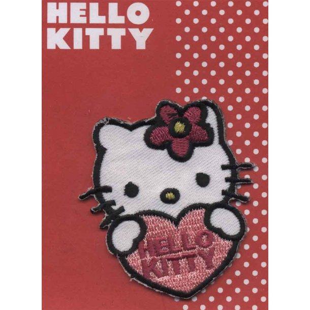Hello Kitty<br>med stort rødt hjerte