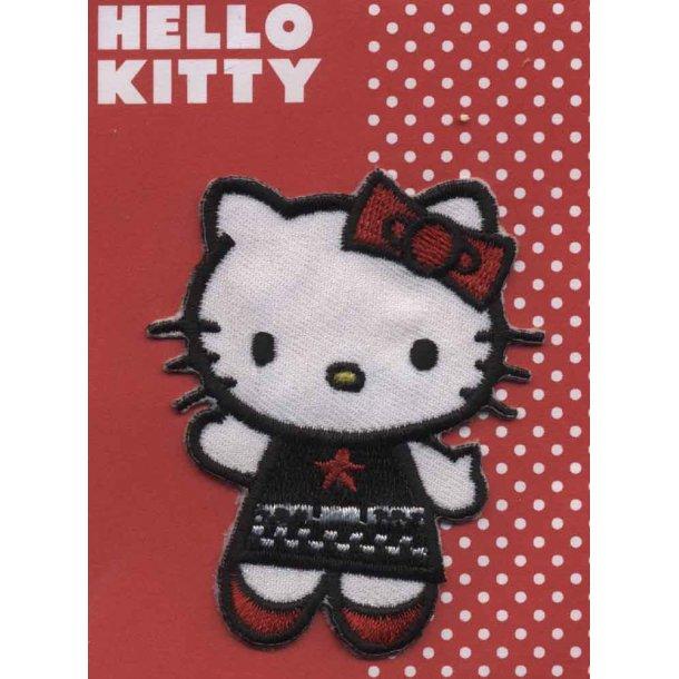 Hello Kitty<br>med fint broderi på kjolen